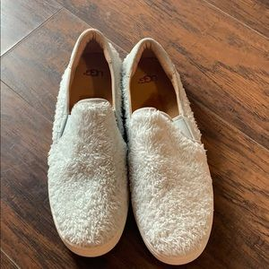 Baby Blue Uggs Fuzzy Sneakers size 10
